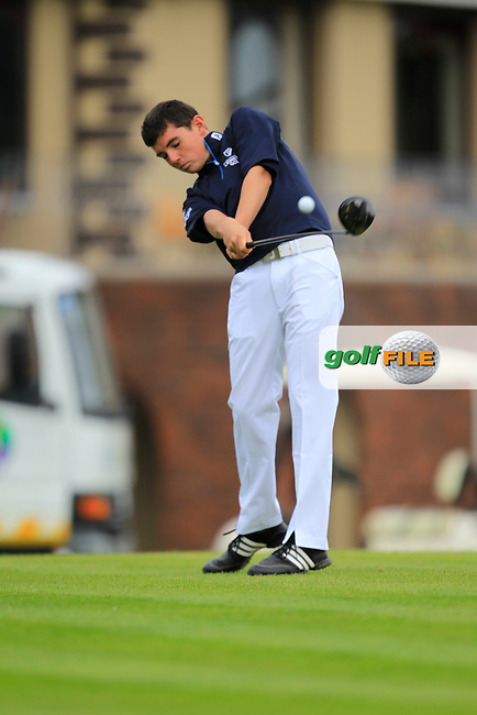 Paul Kelly (Leinster) during the Boys Under 15 Interprovincial Championship Morning Round at the West Waterford Golf Club on Wednesday 22nd August 2013 <br /> Picture:  Thos Caffrey/ www.golffile.ie