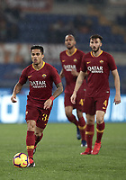 Football, Serie A: AS Roma - Genoa, Olympic stadium, Rome, December 16, 2018. <br /> Roma&rsquo;s Justin Kluivert (l) in action during the Italian Serie A football match between Roma and Genoa at Rome's Olympic stadium, on December 16, 2018.<br /> UPDATE IMAGES PRESS/Isabella Bonotto