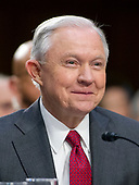"""United States Attorney General Jeff Sessions smiles after giving testimony before the US Senate Select Committee on Intelligence to  """"examine certain intelligence matters relating to the 2016 United States election"""" on Capitol Hill in Washington, DC on Tuesday, June 13, 2017.  In his prepared statement Attorney General Sessions said it was an """"appalling and detestable lie"""" to accuse him of colluding with the Russians.<br /> Credit: Ron Sachs / CNP<br /> (RESTRICTION: NO New York or New Jersey Newspapers or newspapers within a 75 mile radius of New York City)"""