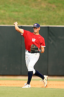 September 15, 2009:  Garin Cecchini, one of many top prospects in action, taking part in the 18U National Team Trials at NC State's Doak Field in Raleigh, NC.  Photo By David Stoner / Four Seam Images