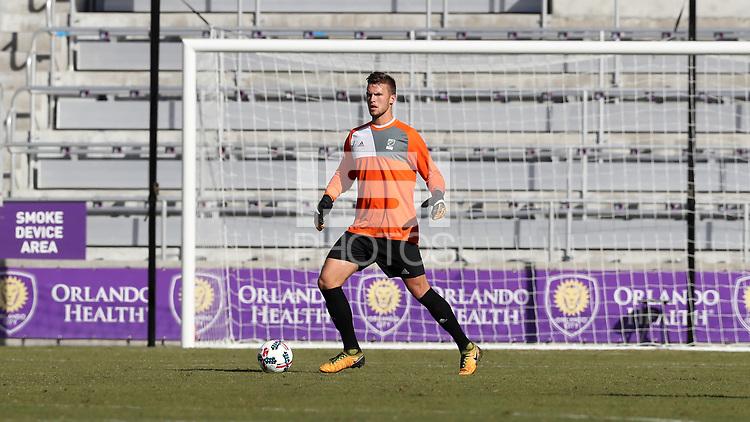 Orlando, Florida - Wednesday January 17, 2018: Ben Lundgaard. Match Day 3 of the 2018 adidas MLS Player Combine was held Orlando City Stadium.