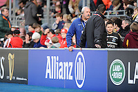 20130216 Copyright onEdition 2013©.Free for editorial use image, please credit: onEdition..General view of Allianz perimeter signage branding during the Premiership Rugby match between Saracens and Exeter Chiefs at Allianz Park on Saturday 16th February 2013 (Photo by Rob Munro)..For press contacts contact: Sam Feasey at brandRapport on M: +44 (0)7717 757114 E: SFeasey@brand-rapport.com..If you require a higher resolution image or you have any other onEdition photographic enquiries, please contact onEdition on 0845 900 2 900 or email info@onEdition.com.This image is copyright onEdition 2013©..This image has been supplied by onEdition and must be credited onEdition. The author is asserting his full Moral rights in relation to the publication of this image. Rights for onward transmission of any image or file is not granted or implied. Changing or deleting Copyright information is illegal as specified in the Copyright, Design and Patents Act 1988. If you are in any way unsure of your right to publish this image please contact onEdition on 0845 900 2 900 or email info@onEdition.com