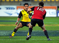 Action from the rugby match between the Hurricanes under-18s and Crusaders Knights at Westpac Stadium in Wellington, New Zealand on Saturday, 15 July 2017. Photo: Dave Lintott / lintottphoto.co.nz