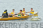 The Sive cox Padraig O'Shea puts pressure on his crew Conor O'Shea, James Casey, Michael O'Shea and Colm Cournane at the Callinafercy regatta on Sunday..