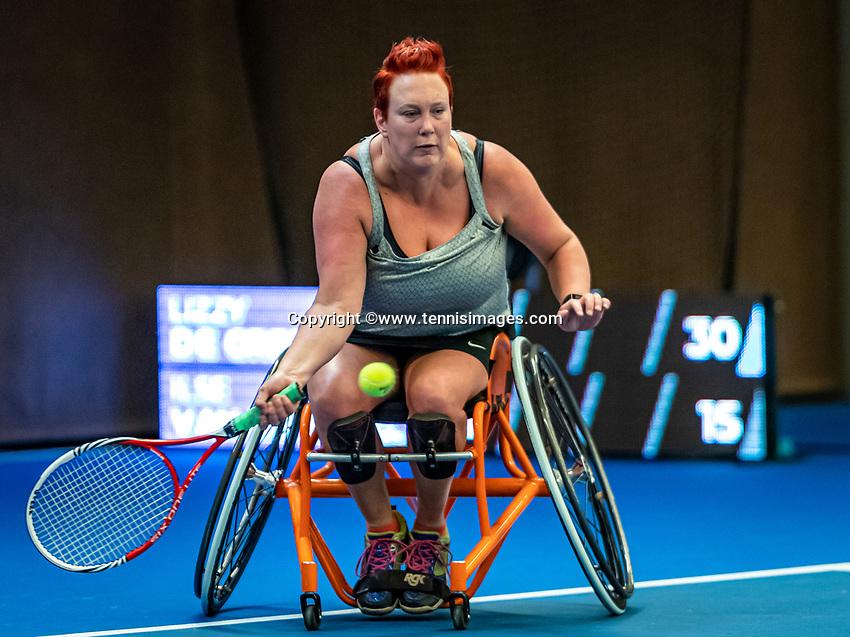Alphen aan den Rijn, Netherlands, December 18, 2019, TV Nieuwe Sloot,  NK Tennis, Wheelchair woman's, <br /> Ilse van de Burgwal (NED)<br /> Photo: www.tennisimages.com/Henk Koster