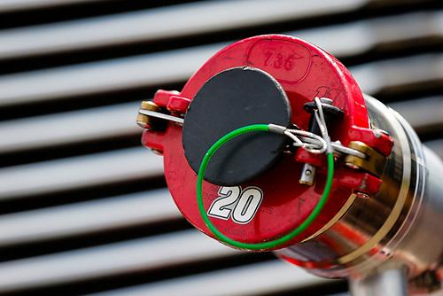 #20: Christopher Bell, Joe Gibbs Racing, Toyota Camry Rheem fuel can