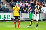 Solna 2015-07-26 Fotboll Allsvenskan AIK - IF Elfsborg :  <br /> Elfsborgs Simon Hedlund deppar efter en missad m&aring;lchans under matchen mellan AIK och IF Elfsborg <br /> (Foto: Kenta J&ouml;nsson) Nyckelord:  AIK Gnaget Friends Arena Allsvenskan Elfsborg IFE depp besviken besvikelse sorg ledsen deppig nedst&auml;md uppgiven sad disappointment disappointed dejected