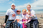 L-R Mike, Mikey, Grace, Eve and Mary t Cooper from Milltown at The Mile in Memory walk in Rossbeigh last Sunday.