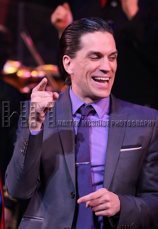 Will Swenson during the Closing Performance Curtain Call for the New York City Center Encores! presents 'It's A Bird... It's A Plane... It's Superman' at City Center in New York City on 3/24/2013.