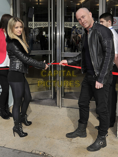 LONDON, ENGLAND, MARCH 22: Ola Jordan &amp; James Jordan attend the photocall to open the London CRUISE Show 2014, Olympia London, Hammersmith Rd., Kensington, on Saturday March 22nd, 2014 in London, England, UK.<br /> CAP/CAN<br /> &copy;Can Nguyen/Capital Pictures