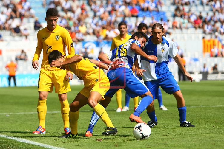 Selles vs Davila. CE Sabadell FC vs Hercules CF: 2-0 - LFP Copa del Rey 2012/13 - 2 Eliminatoria.