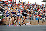 28 MAY 2016: The women's 100 meter race during Division III Men's and Women's Outdoor Track & Field Championship held at Walston Hoover Stadium on the Wartburg College campus in Waverly, IA.Katie McMenamin of Swarthmore won the race with a time of 4:24.33. Conrad Schmidt/NCAA Photos