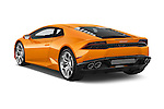 Car pictures of rear three quarter view of 2015 Lamborghini Huracan LP 6104 2 Door Coupe Angular Rear