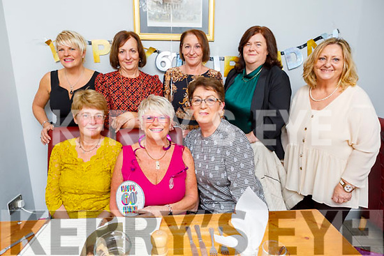 Ann Buggy from Cahermoneen celebrating her 60th birthday on Saturday in Bella Bia.<br /> Seated l to r: Sheila O'Sullivan, Ann Buggy and Mary O'Connor.<br /> Back l to r: Pat Clapham, Brenda Kerins, Pat Enright, Jacinta O'Mahoney and Marilyn Bulman