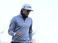 Rafa Cabrera-Bello (ESP) on the 11th green during Round 2 of the 2015 Alfred Dunhill Links Championship at Kingsbarns in Scotland on 2/10/15.<br /> Picture: Thos Caffrey | Golffile