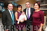 Baby Robert Behan with his parents Tanya & Martin Behan, Liselton and his godparents John Goggin & Mairead Garvey who was christened in Ballydonoghue Church by Fr.John Lawlor on Saturday last and afterwards at Behan's Horsedhoe Bar & Restaurant, Listowel.