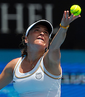 Alexandra Dulgheru against Kim Clijsters (BEL) (3) in the first round of the women's singles. Kim Clijsters beat Alexandra Dulgheru 6-1 6-2..International Tennis - Medibank International Tournament - Olympic Park - Sydney - Day 1 - Sun 9th January 2011..© Frey - AMN Images, Level 1, Barry House, 20-22 Worple Road, London, SW19 4DH.Tel - +44 208 947 0100.Email - Mfrey@advantagemedianet.com.Web - www.amnimages.photshelter.com