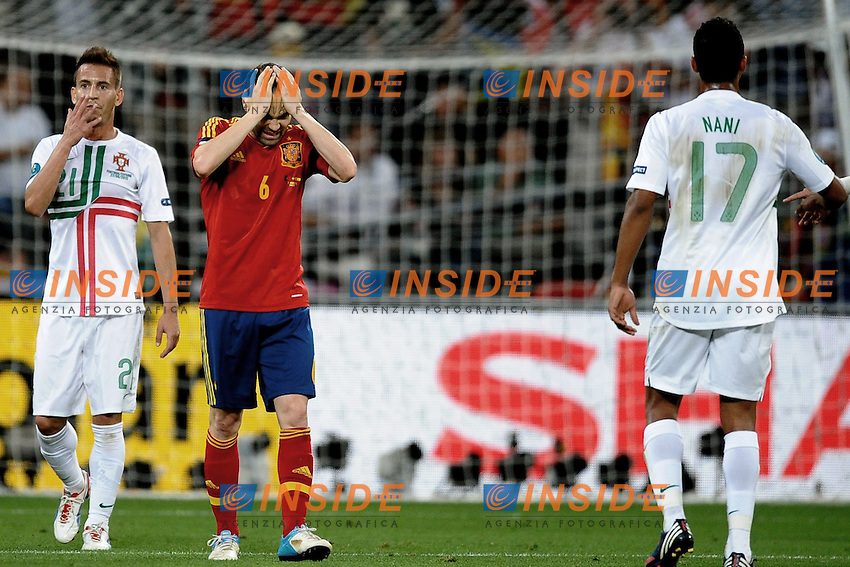Andres INIESTA (esp) .Donetsk 27/06/2012 Stadio:Donbass Arena Di Donetsk .Football calcio Europeo 2012 Spagna vs Portogallo.Football Calcio Euro 2012.Foto Insidefoto /Anthony Bibard  / Panoramic .ITALY ONLY...