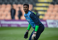Goalkeeper Jamal Blackman of Wycombe Wanderers warms up ahead of the Sky Bet League 2 match between Barnet and Wycombe Wanderers at The Hive, London, England on 17 April 2017. Photo by Andy Rowland.