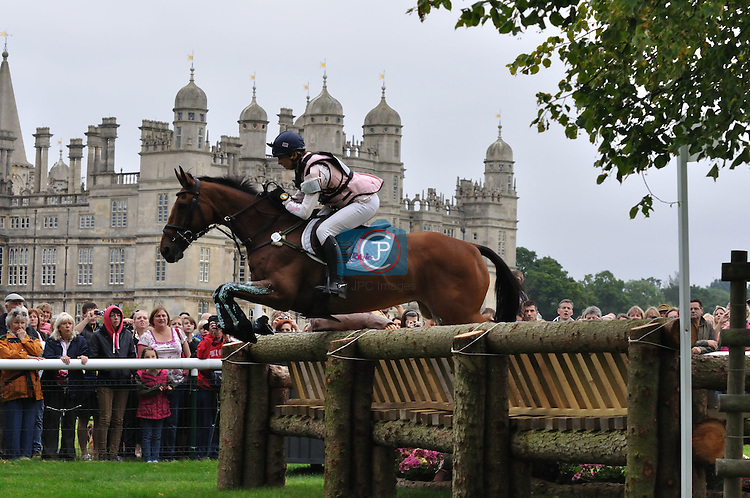 Georgie Spence & Running Brook II at the 2011 Land Rover Burghley Horse Trials
