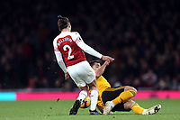 Hector Bellerin of Arsenal and Jonny of Wolves during Arsenal vs Wolverhampton Wanderers, Premier League Football at the Emirates Stadium on 11th November 2018
