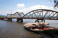 Old Bridge over the Kampot River - Kampot is a provincial Cambodian town where fishing is a major industry as well as pepper and salt. The body of water is actually an estuary, thanks to its location near the coast.