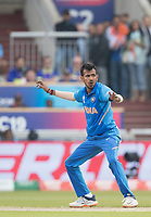 Yuzvendra Chahal (India) appeals for a decision during India vs New Zealand, ICC World Cup Semi-Final Cricket at Old Trafford on 9th July 2019