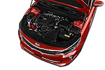 Car Stock 2016 KIA Optima SX 4 Door Sedan Engine  high angle detail view