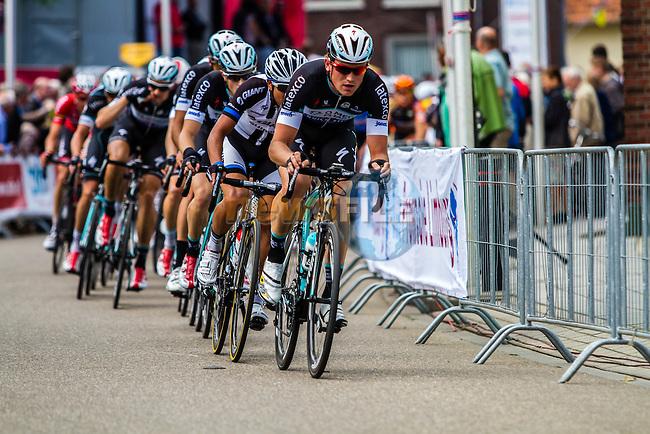 OPQS leading the bunch in the penultimate lap, Stage 3 Buchten - Buchten, Ster ZLM Toer, Buchten, The Netherlands, 20th June 2014, Photo by Thomas van Bracht / Peloton Photos