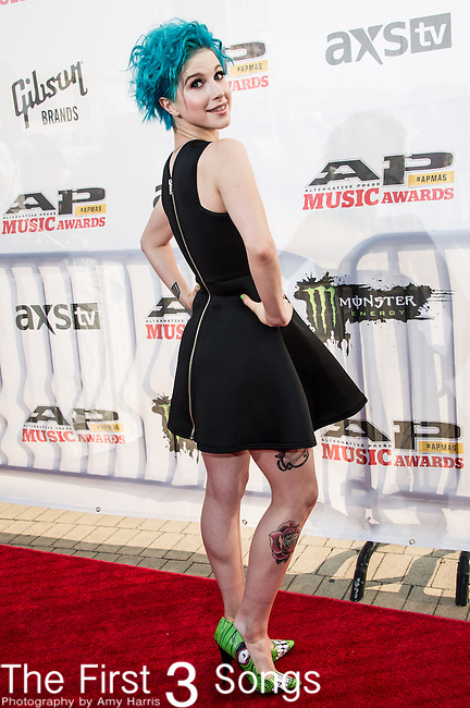 Hayley Williams attends the 2014 AP Music Awards at the Rock And Roll Hall Of Fame and Museum at North Coast Harbor in Cleveland, Ohio.