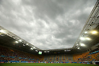 Thunderstorm over the stadium in Dresden during the FIFA U20 Women's World Cup at the Rudolf Harbig Stadium in Dresden, Germany on July 17th, 2010.
