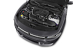 Car Stock 2015 Dodge Charger SE FWD 4 Door Sedan Engine high angle detail view