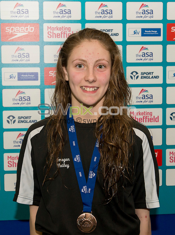 Picture by Allan McKenzie/SWpix.com - 07/08/2015 - Swimming - British Swimming ASA National Championships 2015 - Ponds Forge International Sports Centre- Sheffield, England - Imogen Bailey.