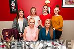 Double Celabration : Fionnula Keane & Rachel Collins, front celebrating their 18th birthday with their friends Lisa Guiney, Lisa Mulvihill, Niamh Enright & Toni McCarthy at Eabha Joan's Restaurant, Listowel on Friday night last.