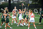 TAMPA, FL - MAY 20: Marina Jozokos #11 of the Florida Southern Mocs tries to possess the ball against the Le Moyne Dolphins during the Division II Women's Lacrosse Championship held at the Naimoli Family Athletic and Intramural Complex on the University of Tampa campus on May 20, 2018 in Tampa, Florida. Le Moyne defeated Florida Southern 16-11 for the national title. (Photo by Jamie Schwaberow/NCAA Photos via Getty Images)