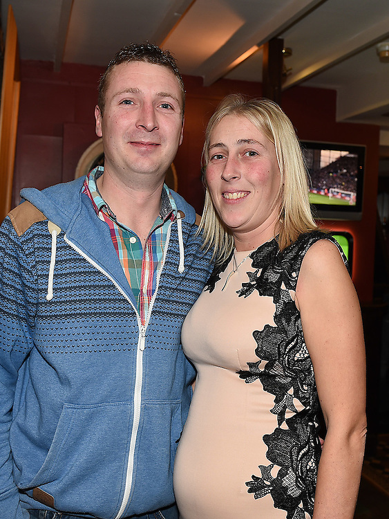 Gary O'Rourke celebrating his 30th birthday in The Windmill bar with sister Suzanne. Photo:Colin Bell/pressphotos.ie