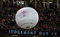 A large ballon fitted with a camera is sent around the stadium during the half time break<br /> <br /> Photographer Simon King/CameraSport<br /> <br /> International Rugby Union - 2017 Under Armour Series Autumn Internationals - Wales v Australia - Saturday 11th November 2017 - Principality Stadium - Cardiff<br /> <br /> World Copyright &copy; 2017 CameraSport. All rights reserved. 43 Linden Ave. Countesthorpe. Leicester. England. LE8 5PG - Tel: +44 (0) 116 277 4147 - admin@camerasport.com - www.camerasport.com