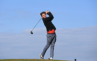 Joe Harvey during Round Two of the West of England Championship 2016, at Royal North Devon Golf Club, Westward Ho!, Devon  23/04/2016. Picture: Golffile | David Lloyd<br /> <br /> All photos usage must carry mandatory copyright credit (&copy; Golffile | David Lloyd)