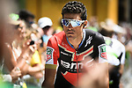 Greg Van Avermaet (BEL) BMC Racing Team at sign on before the start of Stage 14 of the 2018 Tour de France running 188km from Saint-Paul-Trois-Chateaux to Mende, France. 21st July 2018. <br /> Picture: ASO/Pauline Ballet | Cyclefile<br /> All photos usage must carry mandatory copyright credit (&copy; Cyclefile | ASO/Pauline Ballet)