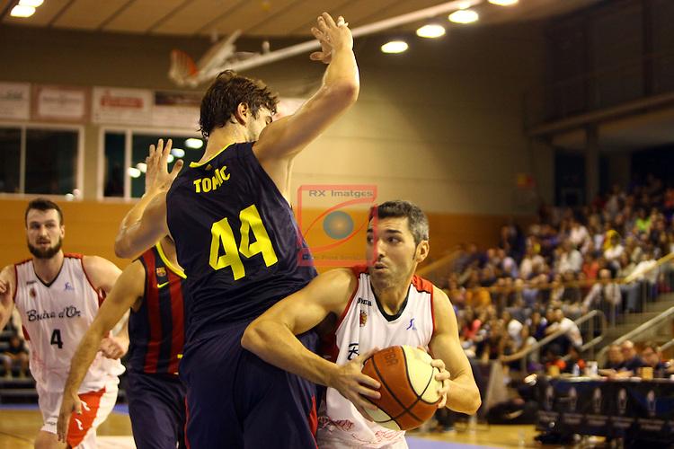 Regal XXXV Llia Nacional Catalana ACB 2014-Semifinals.<br /> FC Barcelona vs La Bruixa d'Or Manresa: 82-66.<br /> Ante Tomic vs Ben Dewar.