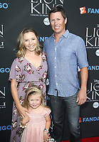 "05 August 2017 - Los Angeles, California - Beverley Mitchell, Kenzie Cameron, Michael Cameron. ""The Lion King"" Sing-Along Screening. Photo Credit: F. Sadou/AdMedia"