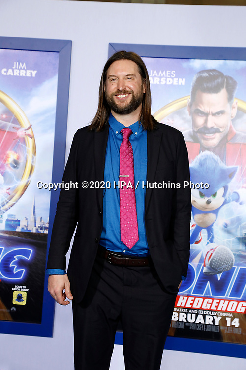 """LOS ANGELES - FEB 12:  Pat Casey at the """"Sonic The Hedgehog"""" Special Screening at the Village Theater on February 12, 2020 in Westwood, CA"""