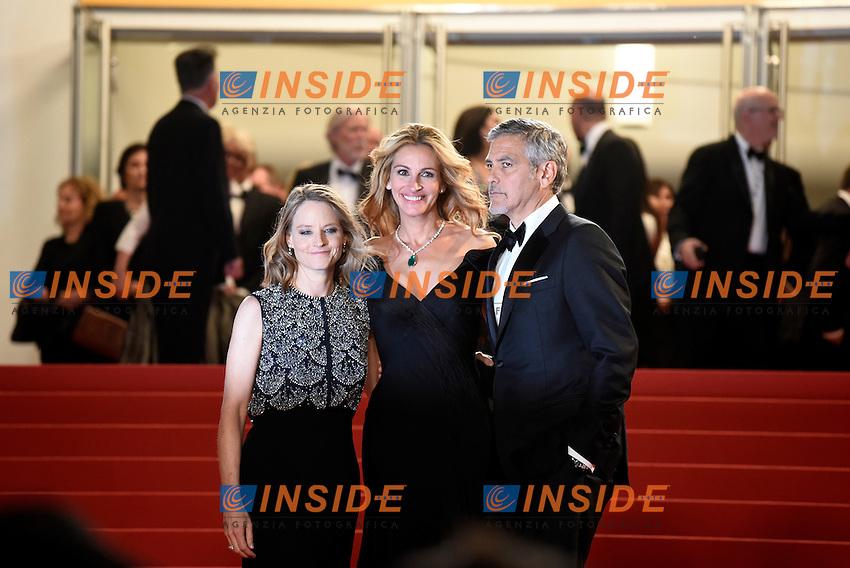 Jodie Foster, Julia Roberts, George Clonney<br /> Festival di Cannes 2016 <br /> Foto Panoramic / Insidefoto