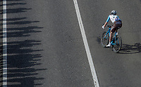 Nico Denz (GER/AG2R La Mondiale) in search for the peloton<br /> <br /> 105th Scheldeprijs 2017 (1.HC)<br /> 1day race: Mol &gt; Schoten 200km