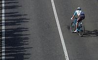 Nico Denz (GER/AG2R La Mondiale) in search for the peloton<br /> <br /> 105th Scheldeprijs 2017 (1.HC)<br /> 1day race: Mol > Schoten 200km