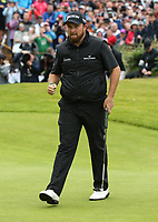 Birdie on 4; Shane Lowry (IRL) during the Final Round of the 148th Open Championship, Royal Portrush Golf Club, Portrush, Antrim, Northern Ireland. 21/07/2019. Picture David Lloyd / Golffile.ie<br /> <br /> All photo usage must carry mandatory copyright credit (© Golffile | David Lloyd)
