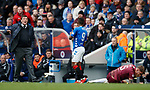 16.02.2019: Rangers v St Johnstone: Jermain Defoe apologies to Tommy Wright for catching Jason Kerr by accident