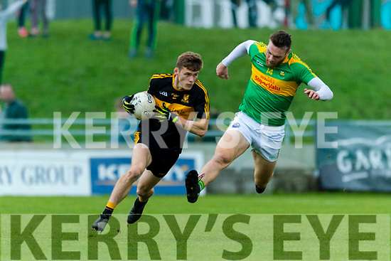 Gavin White Dr Crokes in action against Matthew O'Sullivan South Kerry in the Senior County Football Final in Austin Stack Park on Sunday