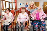 Miriam O'Callaghan visited the clients of Baile Mhuire day centre on Saturday. Pictured l-r Kathleen Daly Margaret O'Brien, Miriam O'Callaghan, Mary Horan