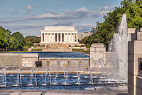 Lincoln Memorial and WWII Memorial Washington DC<br /> Washington DC Photography Washington DC Art - - Framed Prints - Wall Murals - Metal Prints - Aluminum Prints - Canvas Prints - Fine Art Prints Washington DC Landmarks Monuments Architecture